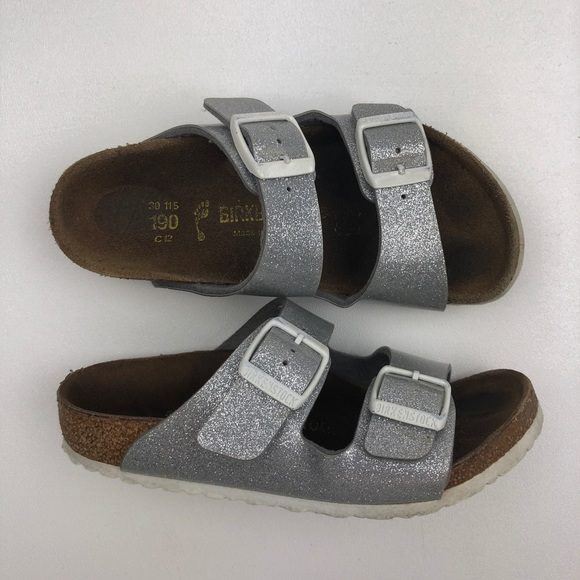 6deafce1e4de53 Birkenstock Other - Birkenstock Rio Ankle Strap Sandals Silver Sequin